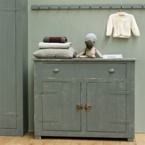 timzowood locker commode - wit en grijs geschuurd