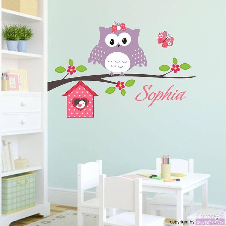 Zauberhaftes Wandtattoo für das Kinderzimmer Mit einer Eule und dem