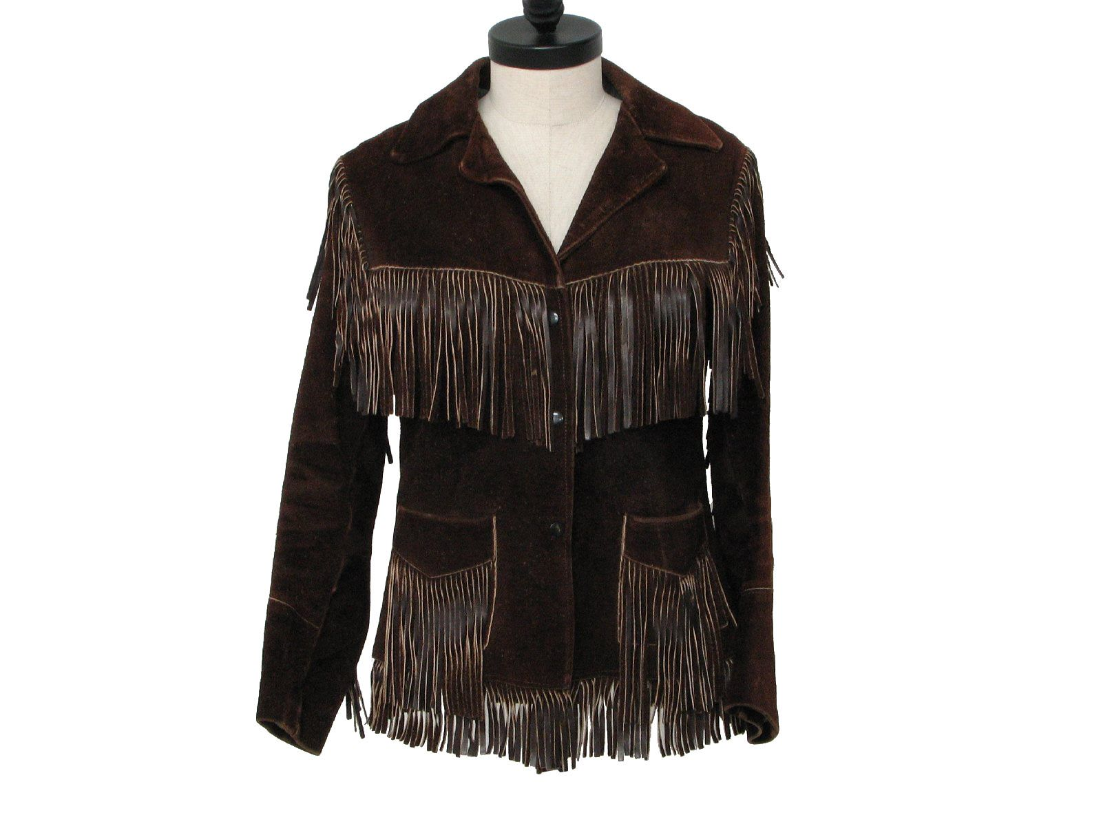 1960's Joo Kay Womens Suede Fringed Leather Jacket