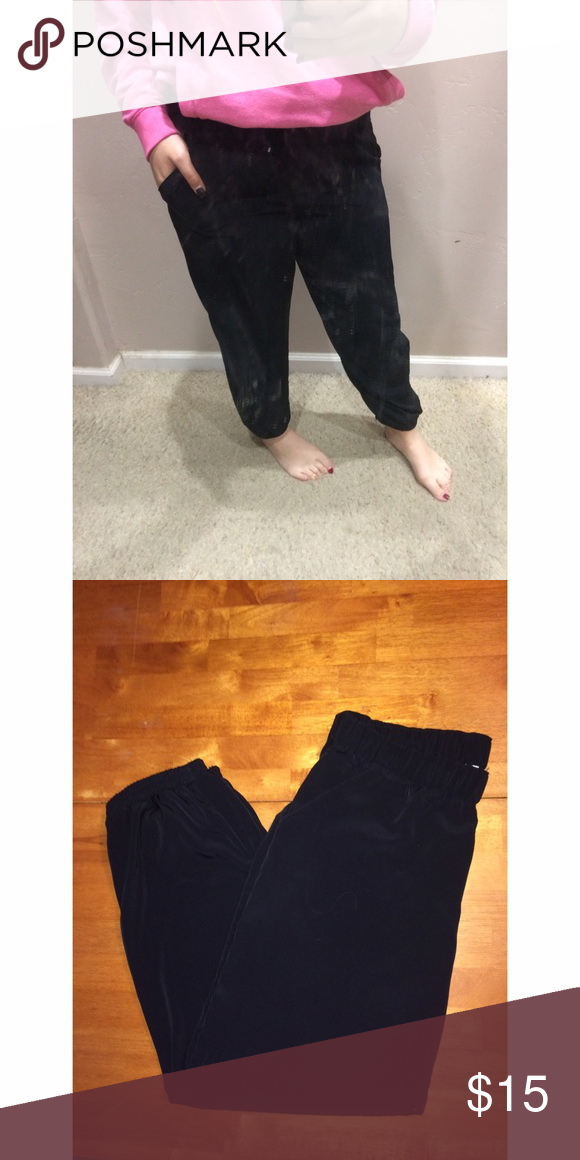 silk pants •synched waist&ankle •good condition •would fit a M as well   TOP RATED SELLER💁🏼                                     NEXT DAY SHIPPING✅ Pants