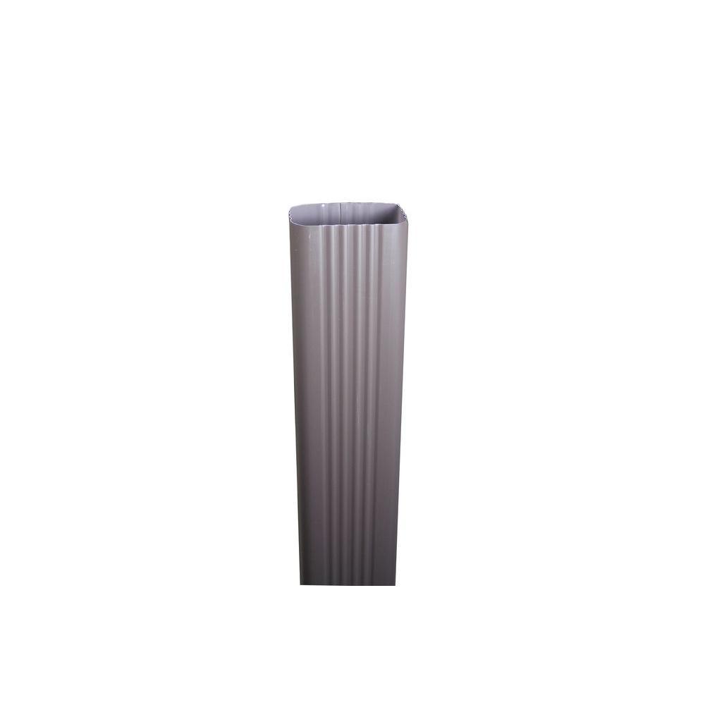 Spectra Metals 3 In X 4 In X 8 Ft Musket Brown Aluminum Downpipe 4dpmb8 Metal Home Depot Musketeers
