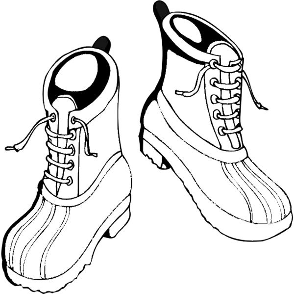 Shoes Winter Boots Coloring Page Cool Boots Coloring Pages