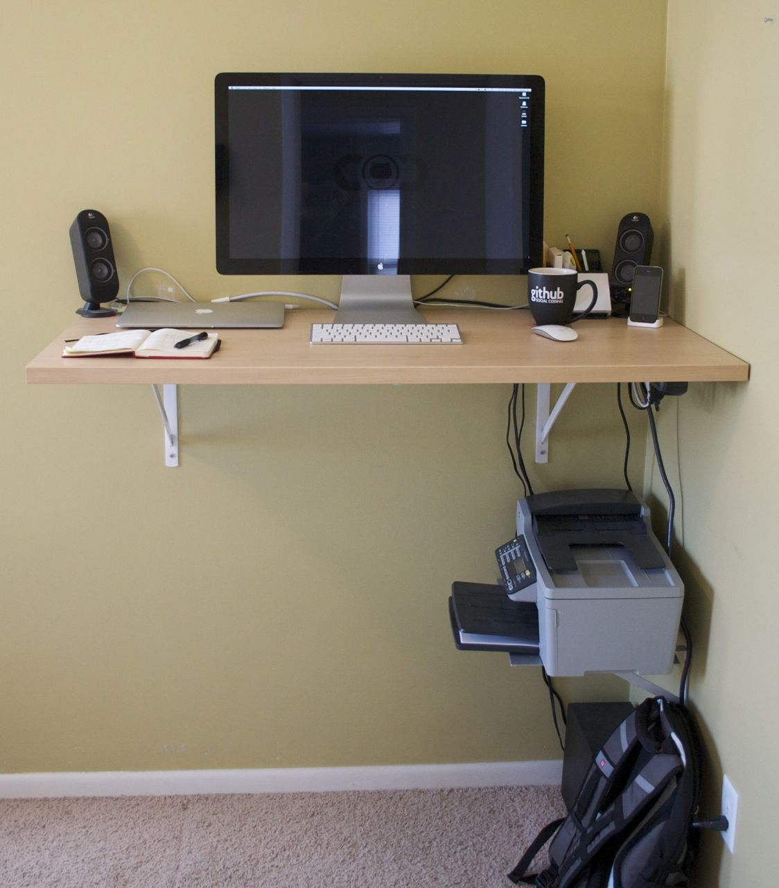 22 diy computer desk ideas that make more spirit work diy rh pinterest com