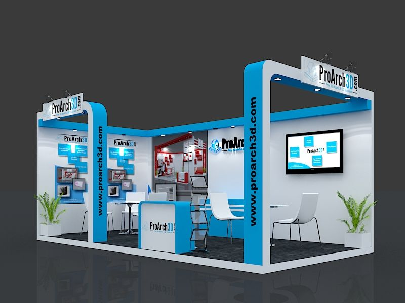 Free 3d Exhibition Stand Design : Exhibition stall d model mtr side open