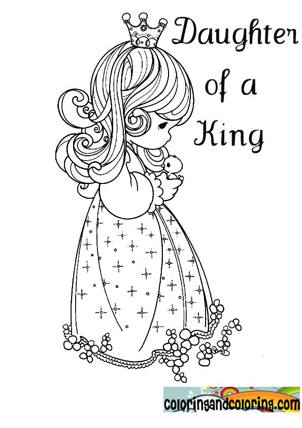 Daughter Of A King Precious Moments Coloring Pages Princess Coloring Pages Jesus Coloring Pages