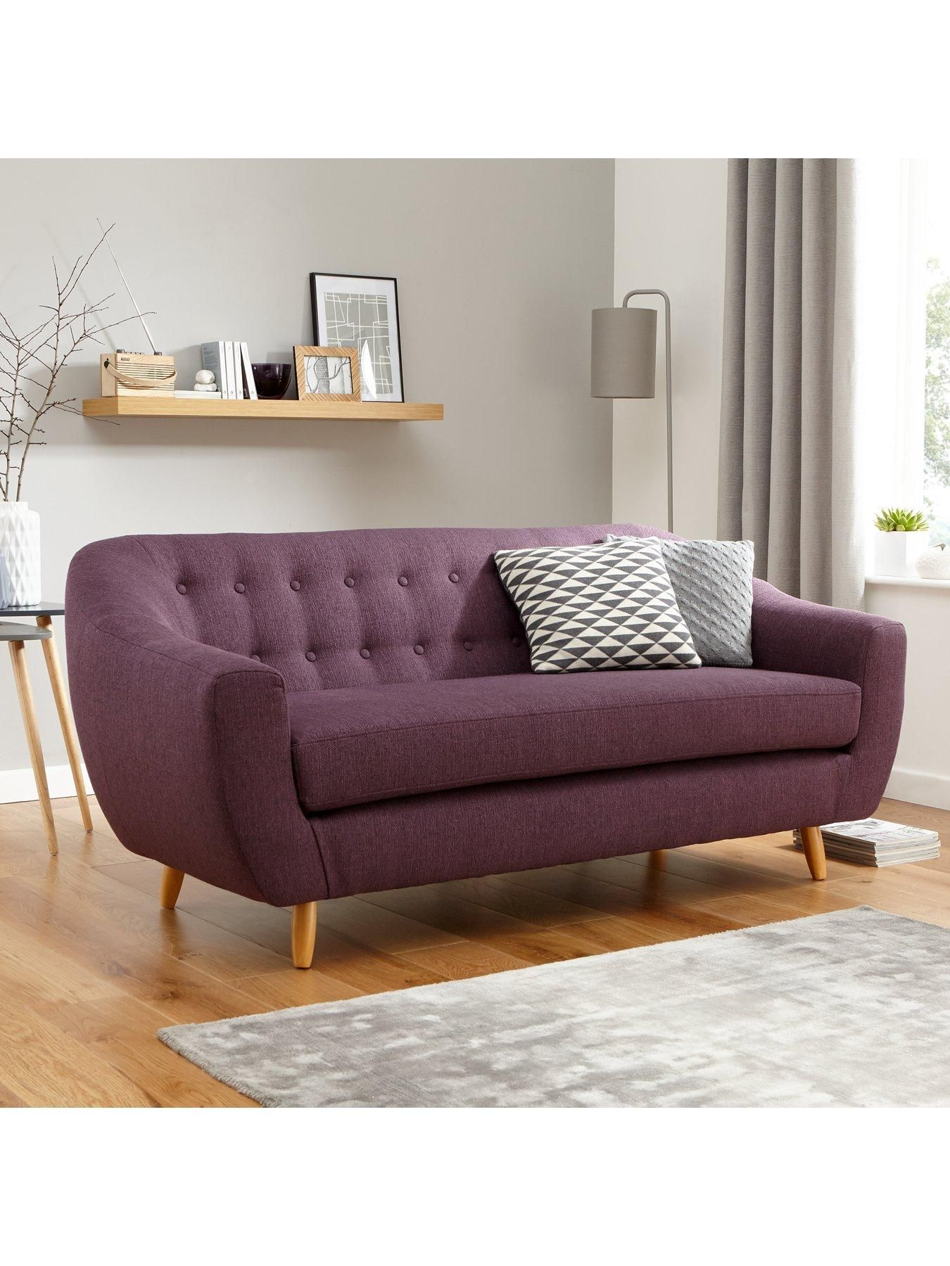Claudia 3 Seater Fabric Sofa | Interior | Fabric sofa, Sofa ...