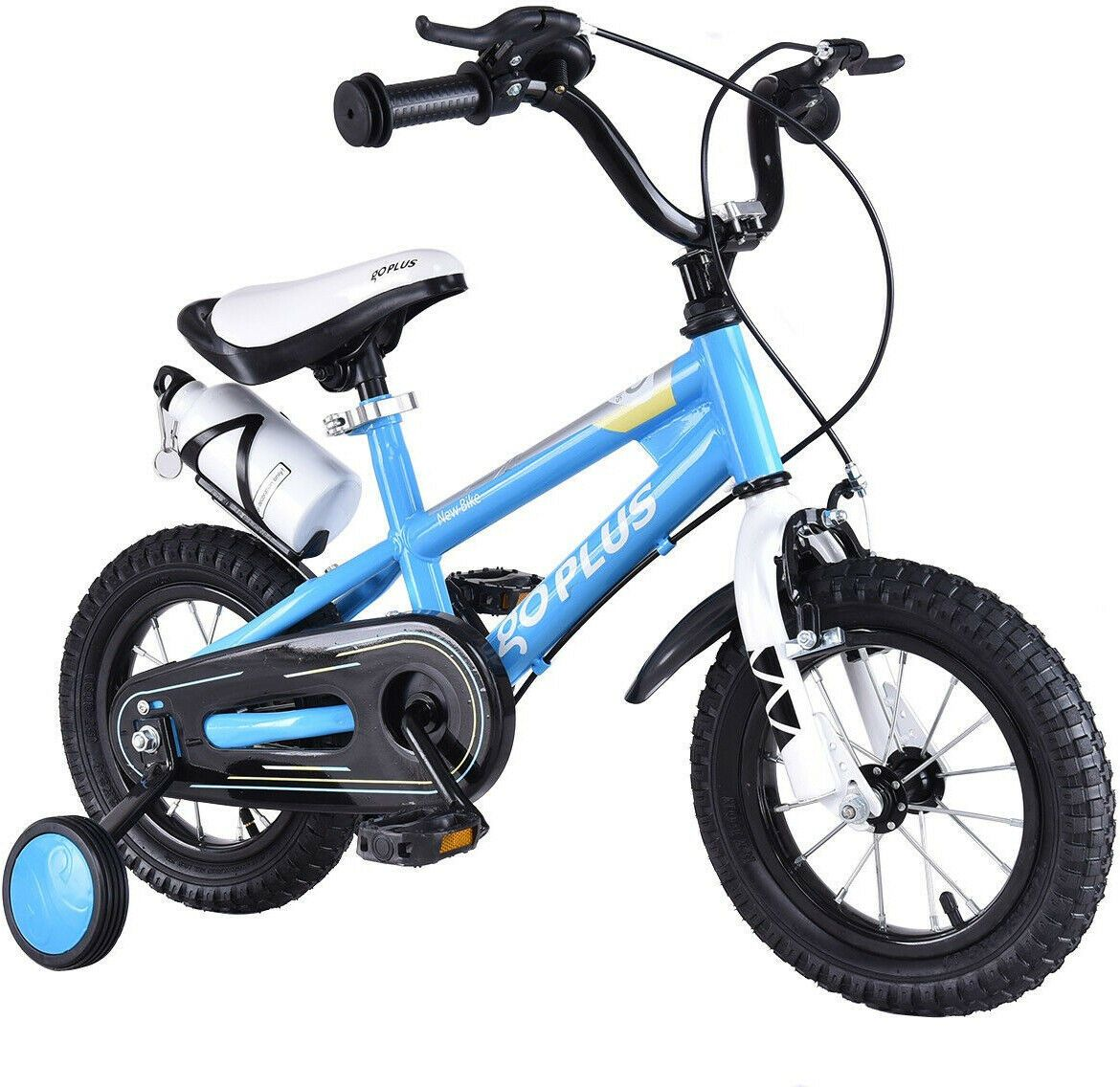 12 Freestyle Children Boys And Girls Bicycle With Training Wheels Blue 6952938374378 Ebay Kids Bike Bike With Training Wheels Bicycle Girl