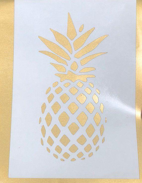fd1d23150 Pineapple Decal - Gold Pineapple Decal - Laptop Decal - Window Sticker -  Phone Case Sticker