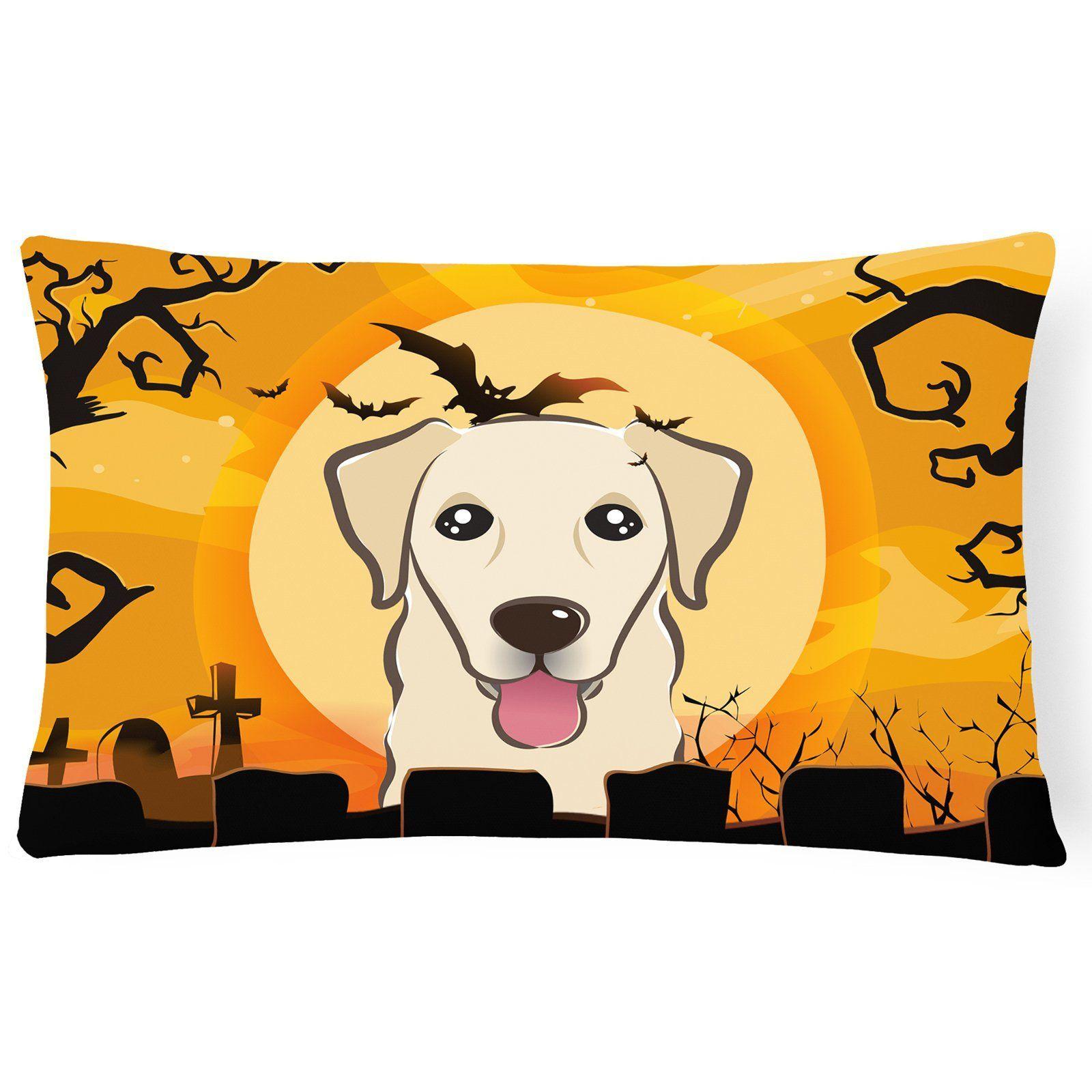 Carolines Treasures Halloween Golden Retriever Rectangle Decorative Outdoor Pillow - BB1810PW1216