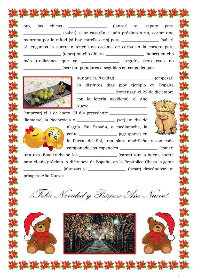 Las vacaciones de invierno, verbos, Navidad | Spaans