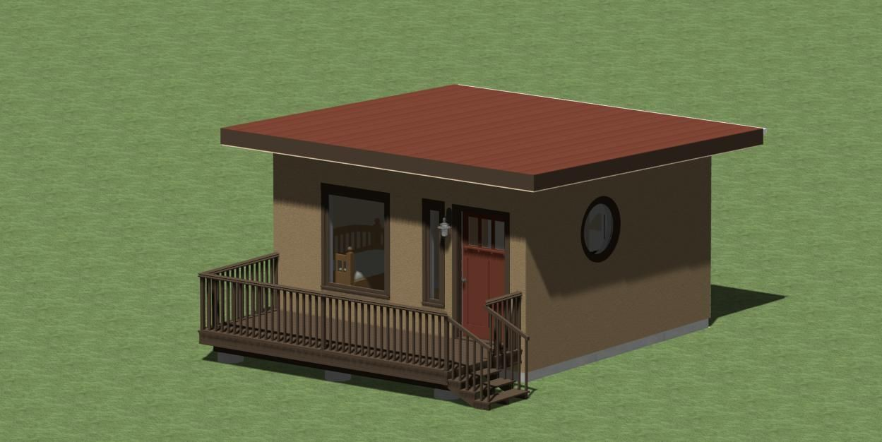 Tiny Modern Style House Plans 256 Sq Ft With Free Energy
