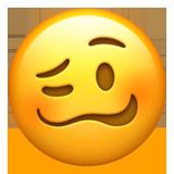 Woozy Face On Apple Ios 12 1 Stiker Gambar Lucu