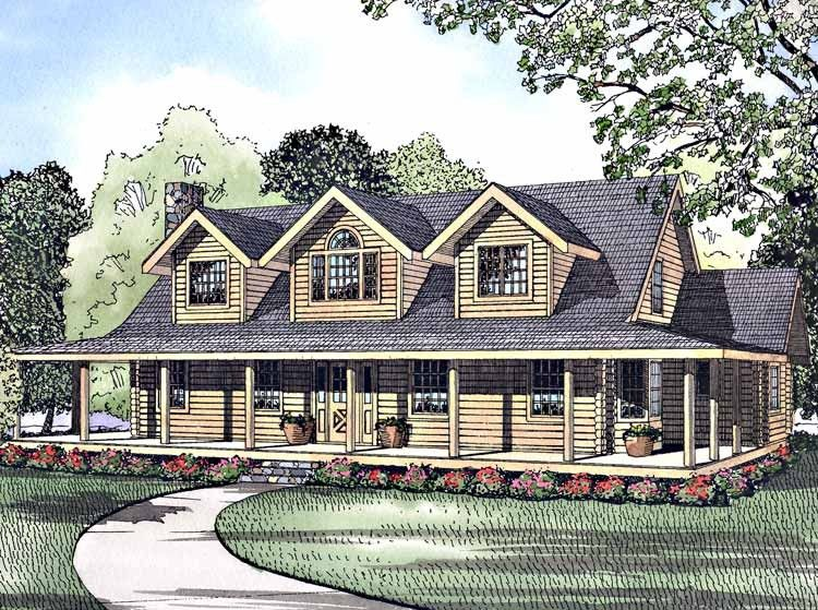 My dream house plane!!! Eplans Log Houses House Plan - Grandma