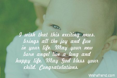 New Baby Wishes Baby wishes \ thanks Pinterest Happy life - best wishes in life