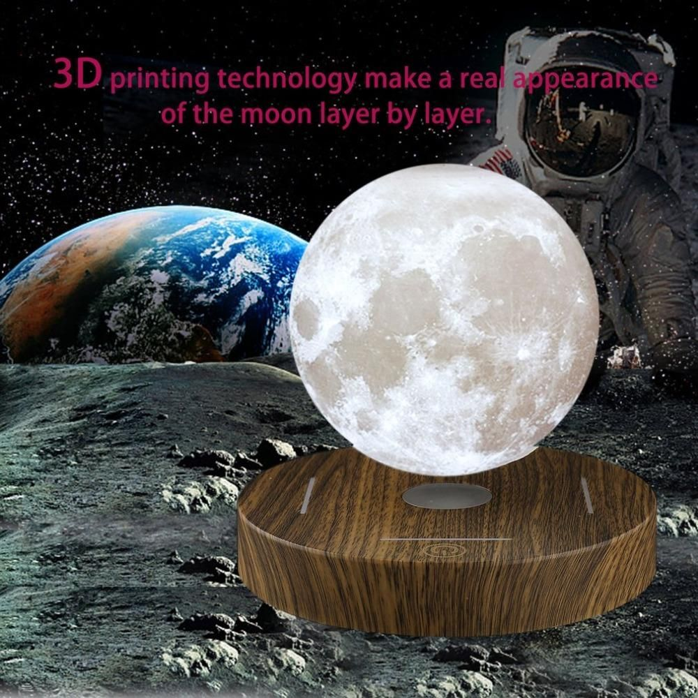 Magnetic Levitating 3d Moon Lamp Wishgadget Com Levitation 3d Printing Technology Romantic Lighting
