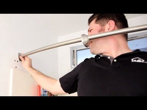 How To Install A Curved Shower Curtain Rod Build Com Youtube