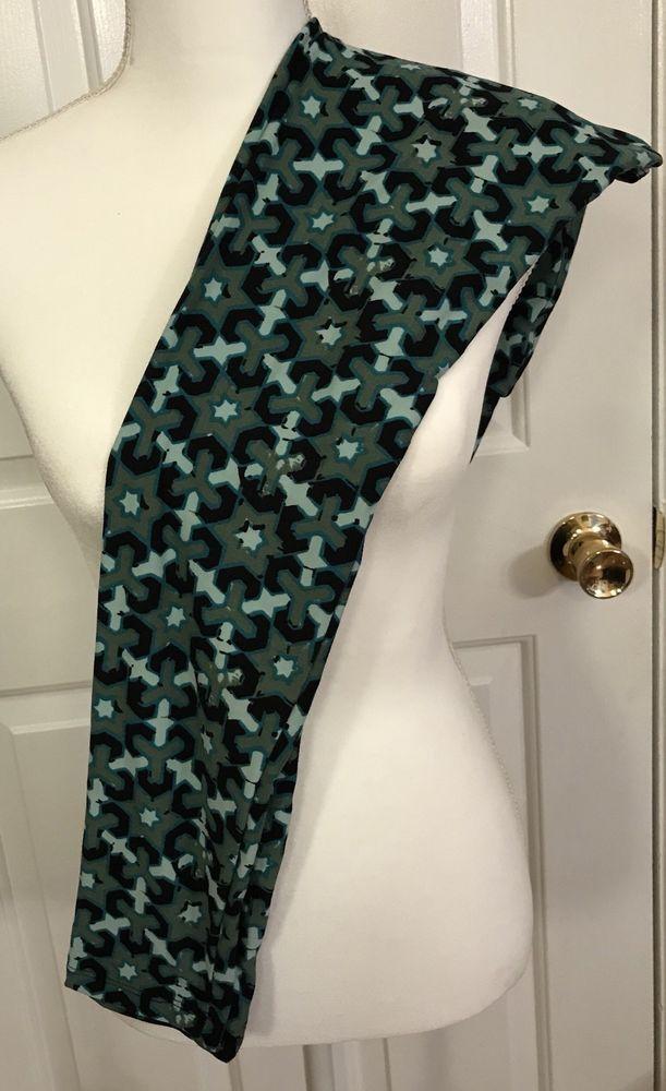 c1b96947d5e4bf LuLaRoe Leggings OS Army Green Black Teal Mint Stars One Size Pants LLR EUC  #LuLaRoe #Casual