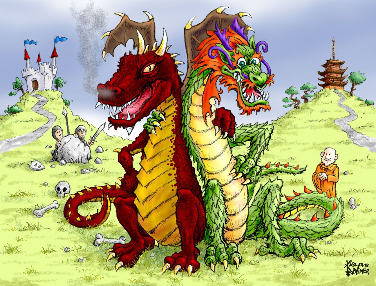 """an analysis of differences between eastern and western dragons If anything, the little dragons  they do not """"exist"""" they are tools for analysis which  he explains the differences in culture between these."""