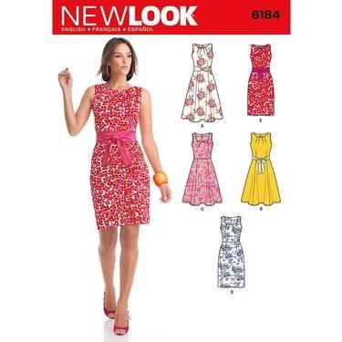 New Look 6184 Womens Dress 8 18 Spotlight Australia Spotlight
