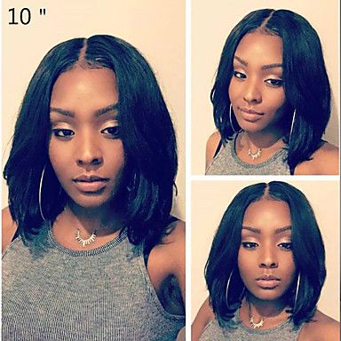 Human Hair Glueless Lace Front / Lace Front Wig Brazilian