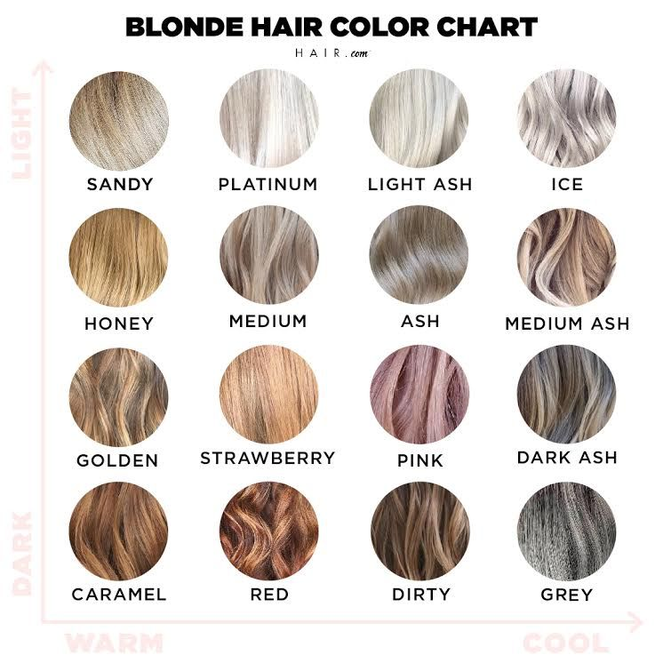 Blonde Hair Color Chart Hair Color Chart Blonde Hair Color