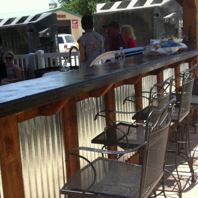 Farron's outdoor bar!