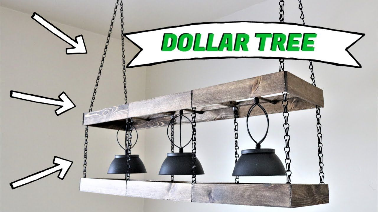 Dollar Tree DIY Farmhouse Chandelier [2020]