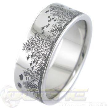 Aquatica Titanium Ring This would be a lovely reminder of an aquarium wedding!