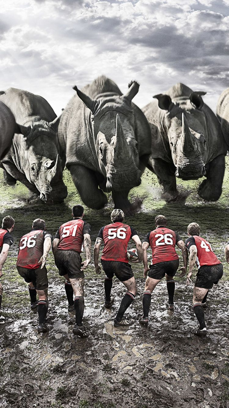 Download Wallpaper 750x1334 Rugby Team Rhinos Dirt Field Iphone 6 Hd Background Rugby Immagini Squadra