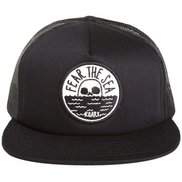 5ff6d094b3a Roark Revival Fear the Sea Trucker Hat ( 28) ❤ liked on Polyvore featuring  accessories