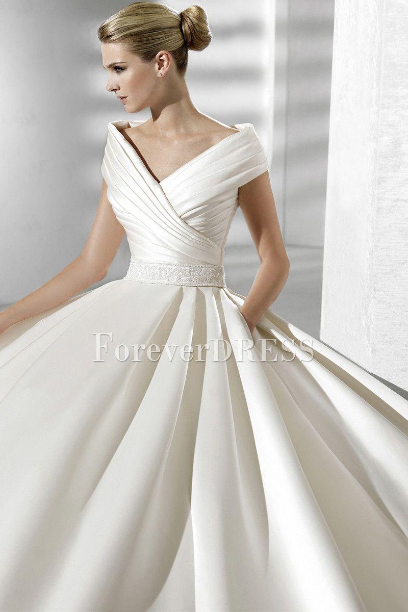 2019 year looks- Wedding silk dresses ball gown
