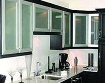 Wonderful Stainless Steel Cabinet Doors For Above The Microwave. Brushed. Glass Panel  Insert.