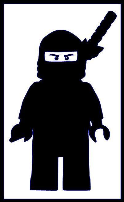 Lego Ninja Silhouette Ausmalbilder Ausmalen Ausmalbilder Kinder