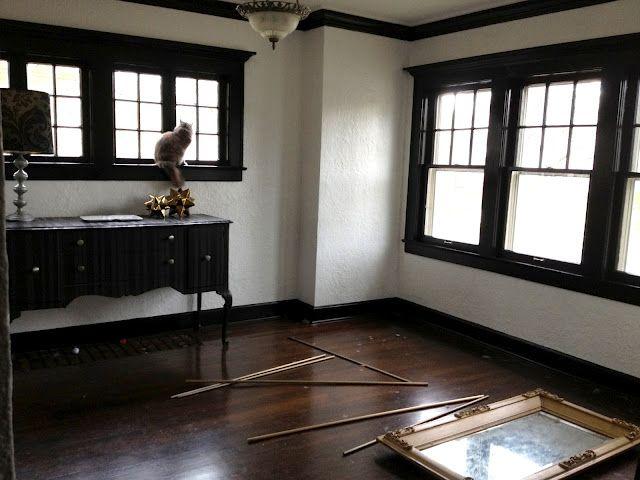 Paint Bonus Room Window Trim Matt Black Walls Off White