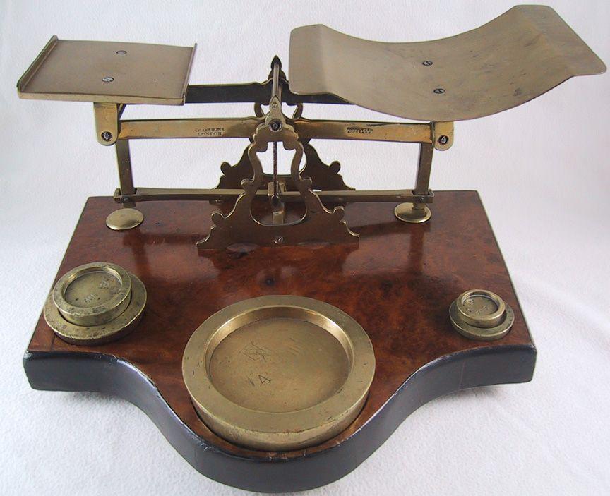 Victorian english postal scale