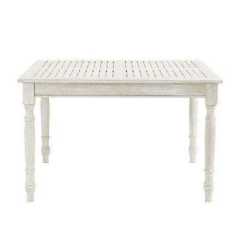 Ceylon Whitewash Square Dining Table - 48 inch Tami Pinterest