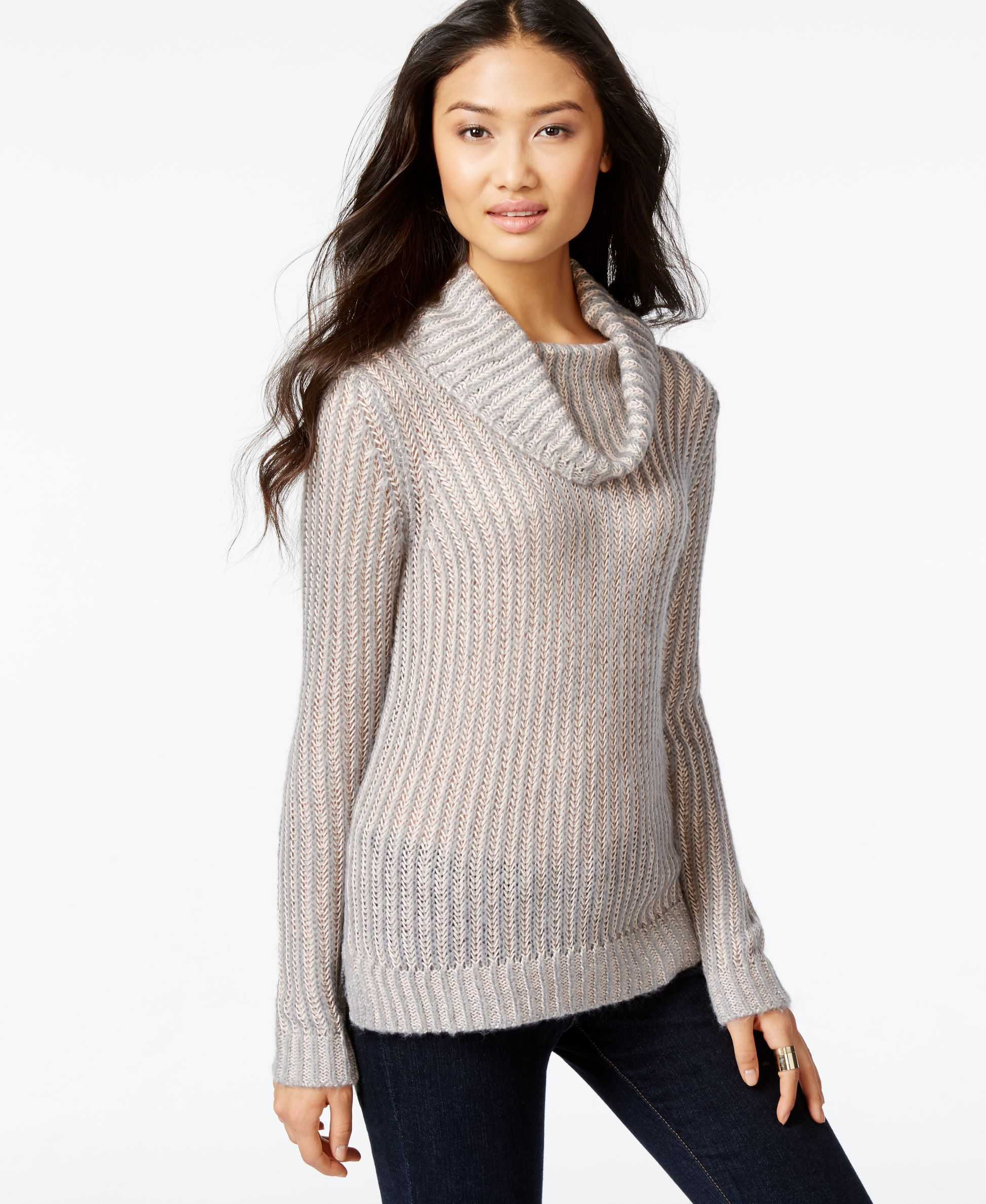 Dkny Jeans Cowl-Neck Long-Sleeve Sweater | Products | Pinterest ...
