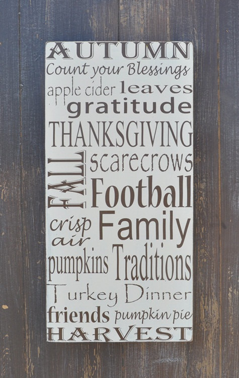 Fall Decor Wooden Subway Art Sign for Thanksgiving by wavynavy ...
