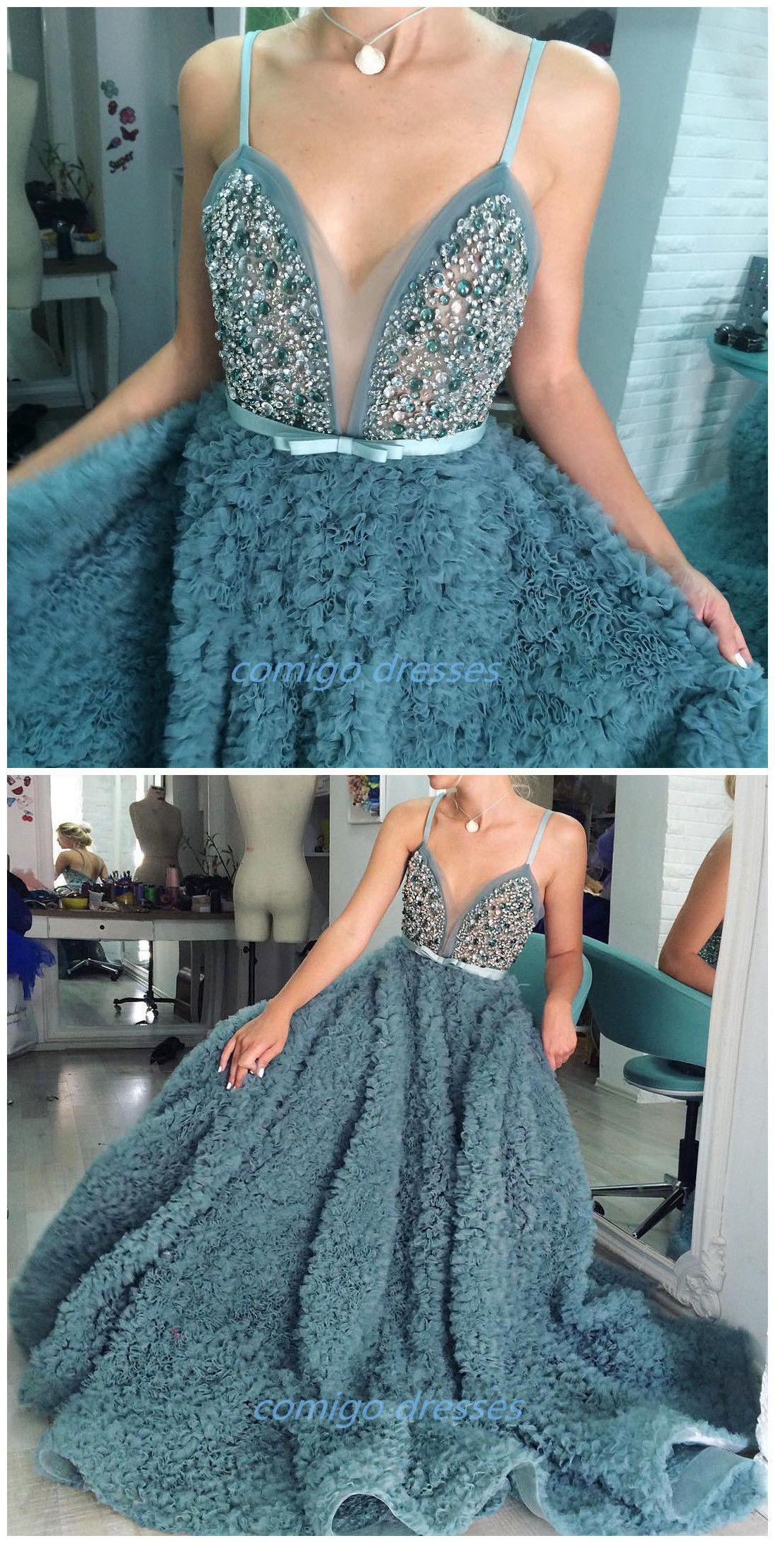 Luxury Emerald Wedding Dress Straps A Line Crystals