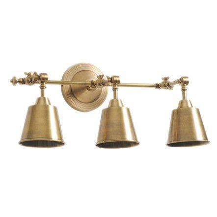 Library Sconce Three Lights Brass Kitchen Light Fixtures