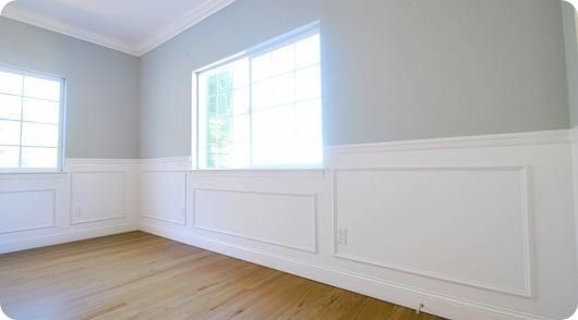 Use picture frames as wainscoting. | Wainscoting, Diy house ideas ...