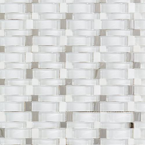 Maui Wave Polished Glass Mosaic Mosaic Glass Glass Tile