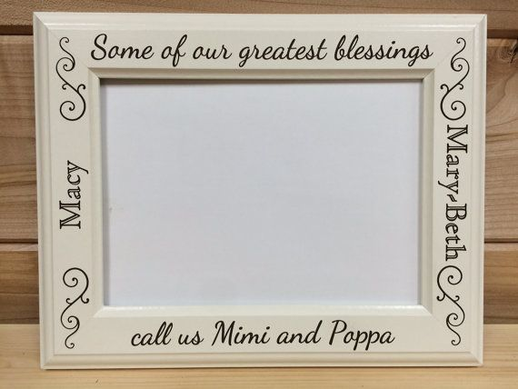 Grandparent Picture Frame, 4x6 & 5x7, Laser Engraved, Personalized ...