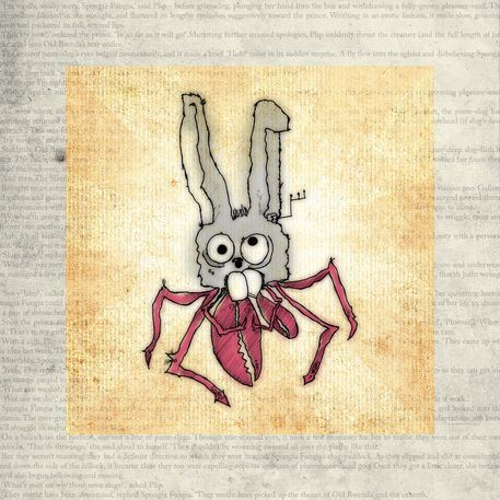 'A CRABBIT (CRAB/RABBIT HYBRID)' by Hayes Design on artflakes.com as poster or art print $16.63