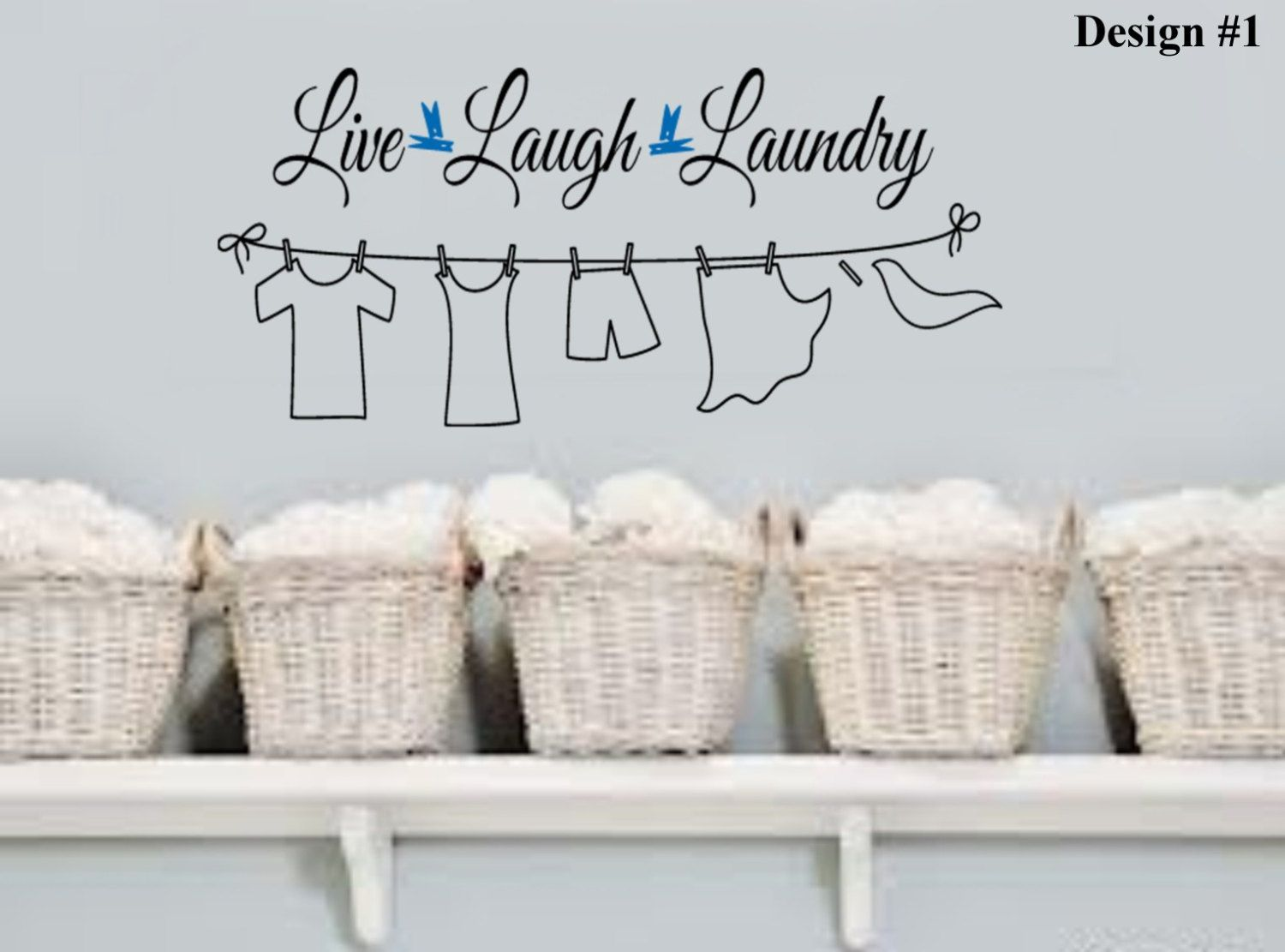 Live Laugh Laundry Clothes Line Vinyl Wall Lettering Quotes Etsy Laundry Room Quotes Vinyl Wall Lettering Laundry Room