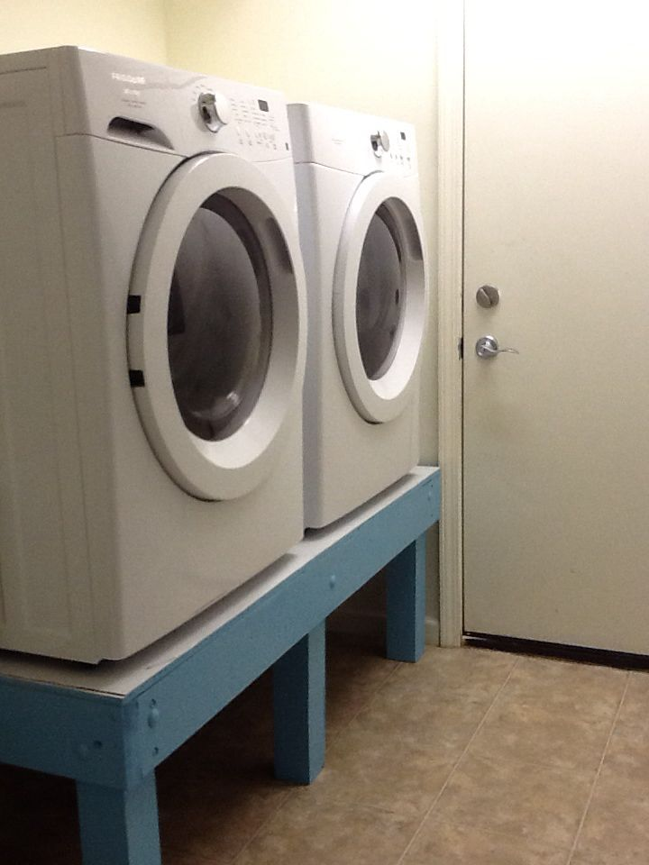 Diy Washer And Dryer Stand Washer And Dryer Stand Laundry