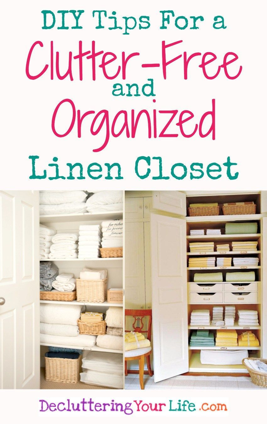 Linen closet organization tips, ideas, and pictures. DIY idea for a ...