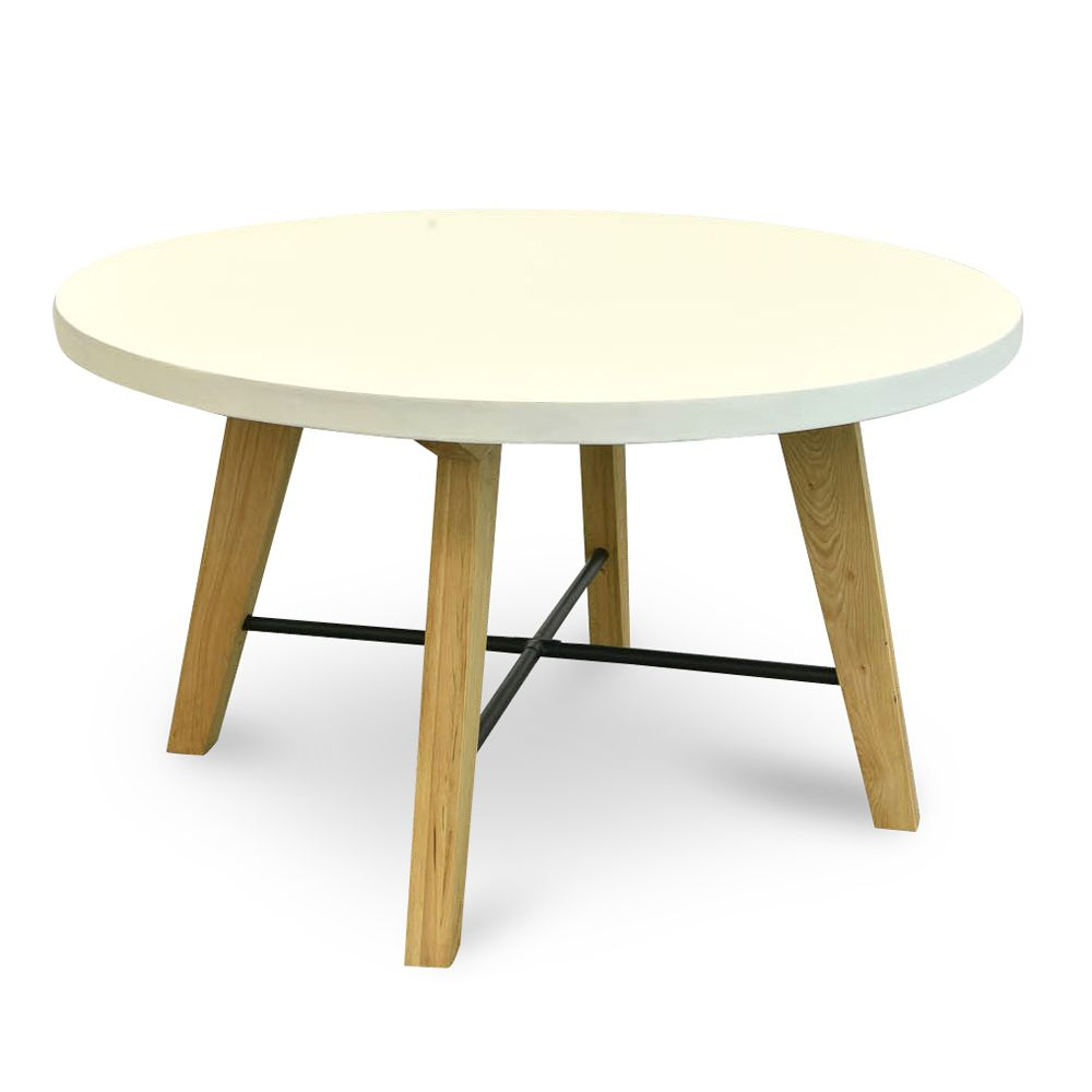 Simple Yet Sophisticated The Hogan 1 4m Round Dining Table White Natural Will Provi Round Dining Table Furniture Stores Online Affordable Modern Furniture