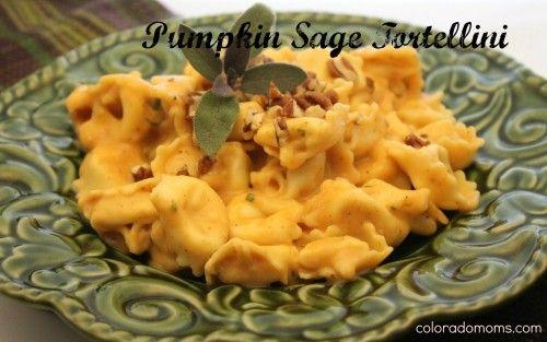 Pumpkin Sage Tortellini | 15 minutes to a rich, creamy, yummy Fall dinner. #meatlessmonday