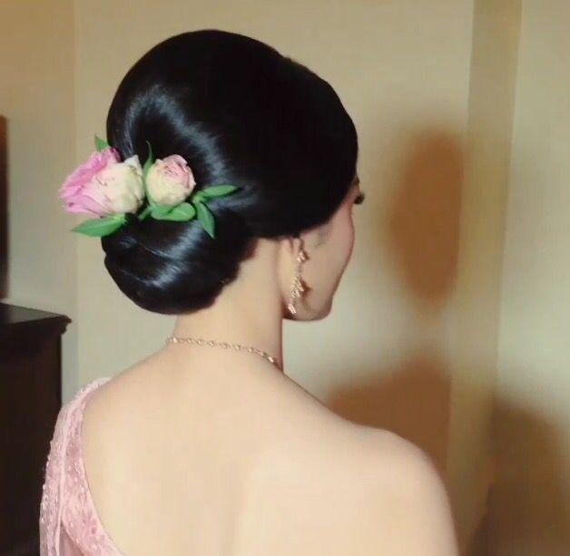 Thai Wedding Hairstyle Cr Nongchat ヘアアレンジ In 2019